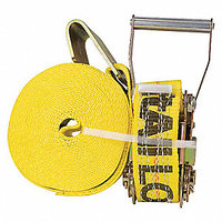 "LOAD HUGGER Ratchet Tie Down  2"" X 27' Flat Hook"