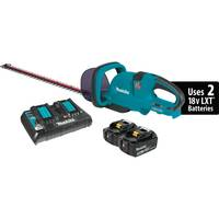 "MAKITA 18V X2 (36V) 5.0AH LITH-ION 25-1/2"" HEDGE TRIMMER KIT WITH DUAL PORT CHARGER"
